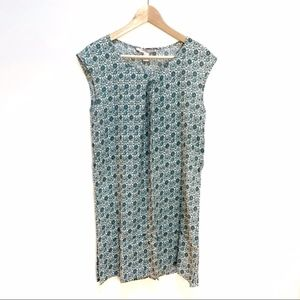 4/$25 Forever 21 green patterned dress S